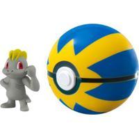 Mini Figura Pokémon Machop Quick Ball Sunny - Unissex-Incolor