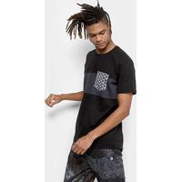 Camiseta Okdok Classic Com Bolso Sublimado Masculina - Masculino-Preto