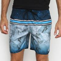 Shorts Ventury City Xi Masculino - Masculino-Azul+Branco