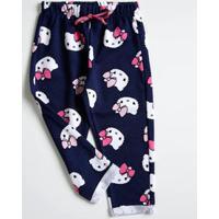 Calça Infantil Moletinho Estampa Hello Kitty Sanrio