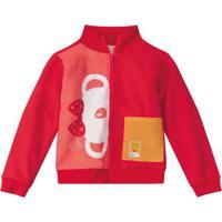Jaqueta Vermelha Menina