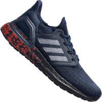 Tênis Adidas Ultraboost 20 - Masculino - Azul Esc/Vermelho