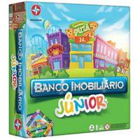 Jogo De Tabuleiro Banco Imobiliário Júnior - Estrela