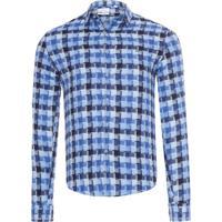 794d68d1c1 Camisa Masculina Slim Canne Xadrez Personali - Azul