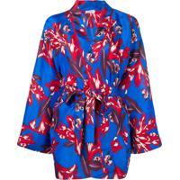 P.A.R.O.S.H. Blusa Estilo Kimono - Azul