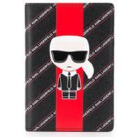 Karl Lagerfeld Porta Passaporte K/Stripe Ikonik - Preto