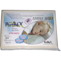 Travesseiro Anti Sufocante Portflex Baby Com Fronha Branco