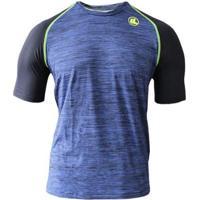Camisa Esporte Legal Uv45+ Raglan Masculina - Masculino-Marinho+Preto