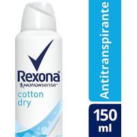 Desodorante Rexona Cotton Dry 48 Horas Aerosol Feminino 150Ml - Feminino-Incolor