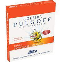 Coleira Antipulgas E Carrapatos Pulgoff Para Cães Pequeno Porte Com 12G