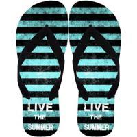 Chinelo Live Summer Masculino - Masculino-Verde Escuro