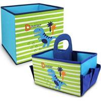 Conjunto Infantil Organizador Infantil Jacki Design Feminino - Feminino-Azul