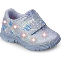Tênis Ortopé Baby Dna Light Led Infantil Frozen O2159926* Feminino - Feminino-Lilás