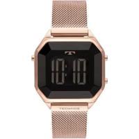 Relógio Technos Crystal Aço Feminino - Feminino-Rosê