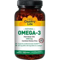 Omega-3 (100 Softgels) - Country Life - Unissex