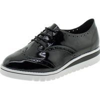 Sapato Feminino Oxford Beira Rio - 4174727 Verniz/Preto 35