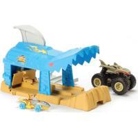 Lançador E Mini Veículo - Hot Wheels - Monster Trucks - Shark Wreak - Mattel