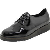Sapato Feminino Oxford Verniz/Preto Beira Rio - 4174101