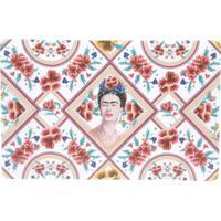 Jogo Americano Frida Kahlo Red Face And Flowers