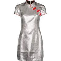 De La Vali Vestido Suki Metálico - Prateado