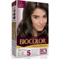 Tintura Biocolor Kit Creme 5.3 Castanho Claro Dourado