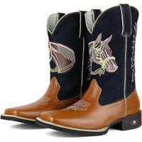 a92e11b57 ... Bota Couro Texana Sapatofran Cavalo Masculina - Masculino-Marrom