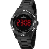 Relógio Champion Digital Ch48073D Feminino - Feminino-Preto