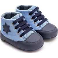 Tênis Bebê Fanfy Lee Conforto Cano Médio Masculino - Masculino-Azul