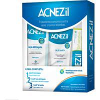 Acnezil Kit De Tratamento Completo Com Gel De Limpeza, Loção Adstringente E Gel Secativo