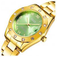 Relógio Feminino Oubaoer 6092L - Dourado E Verde