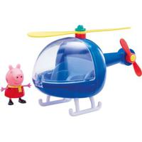 Veículo E Mini Figura - Peppa Pig - Helicóptero Da Peppa - Dtc