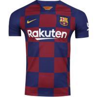 Camisa Barcelona I 19/20 Nike - Masculina - Azul Escuro