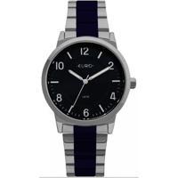 Relógio Feminino Euro Eu2036Ylx/5K /Azul - Unissex-Chumbo