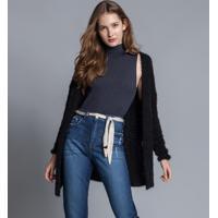 Calça Reta Com Cinto Jeans - Lez A Lez