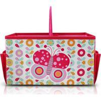 Caixa Organizadora Infantil Com Alça Jacki Design Pequeninos Rosa - Kanui