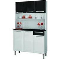 Kit Cozinha Itatiaia Rose Compacta Branca/Preta I3G1-105
