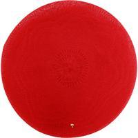 Jogo Americano Redondo Tecido - Vermelho