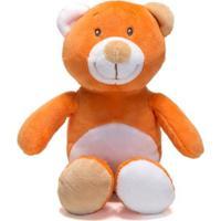 Chocalho De Pelucia Unik Toys Urso Laranja
