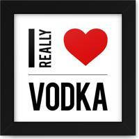 Quadro Adoraria Bebidas Drinks Vodka Love Multicolorido