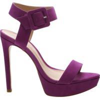 Sandália Salto Meia Pata Nobuck Lilac | Schutz