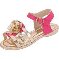Sandália Infantil Plis Calçados Beijinho Feminina - Feminino-Pink