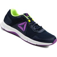 ... Tênis Reebok Express Runner Feminino - Feminino-Azul+Amarelo 15accfea1c5d5
