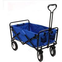Carrinho Dobrável Suporta Até 80 Kg Ntk Wagon Azul