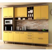 Cozinha Compacta New Vitoria 10 Pt 5 Gv Avelã Com Maracujá