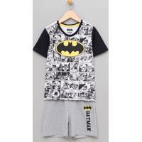 Pijama Infantil Com Estampa Batman - Tam 2 A 14
