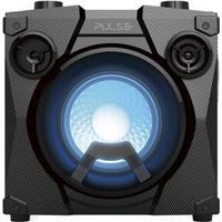 Caixa De Som Party Speak Cube Tws, Bt, Usb, Fm, Aux, Microfone Preto Pulse - Sp320 Sp320