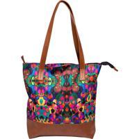 Shopping Bag Source - Boheme - Estampado - Altura 30 Cm X Largura 42 Cm X Comprimento 10 Cm