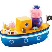 Veículo E Mini Figuras - Peppa Pig - Barco Do Vovô Pig - Dtc - Unissex-Incolor