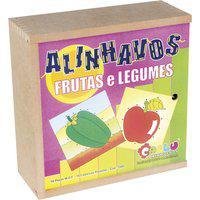 Jogo Alinhavos De Frutas Legumes Carlu Com 10 Cadarços E 10 Bases
