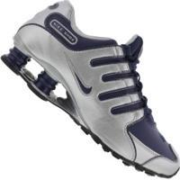 Tênis Nike Shox Nz Si - Masculino - Prata/Azul Esc